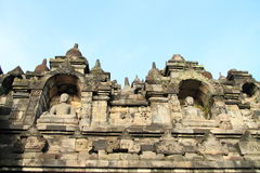 Railings on Borobudur Royalty Free Stock Photo