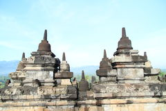 Railings on Borobudur Royalty Free Stock Images