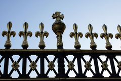 The railings of the gate of Buckingham Palace in London, England Royalty Free Stock Image