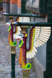 Railings with griffins Stock Photography