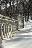 Railings in a park in the classic style Royalty Free Stock Photos