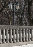 Railings in a park in the classic style Stock Photo