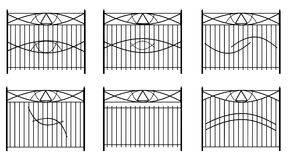 Railings with symbols in vector format Stock Image