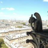 Raillerie de chimère Notre Dame Paris image libre de droits