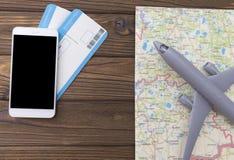 Raillez vers le haut de l'écran des billets d'avion de magasins de téléphone portable illustration de vecteur