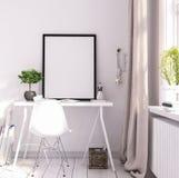 Raillez vers le haut du cadre d'affiche dans le salon, emplacement de travail, style scandinave Photos stock