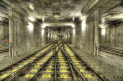 Railline de souterrain Photo libre de droits