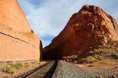Raiload Through Remote Desert Canyon Royalty Free Stock Photo
