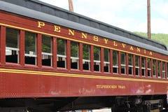 从宾夕法尼亚铁路的历史的railraod汽车 库存照片
