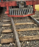 Railroad. With frontpiece of a locomotive stock image