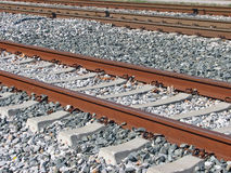Railroad. Old railroad tracks Stock Images
