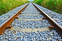 Railroad. To the end of eyes Stock Photos