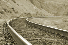 Railroad. Curving Royalty Free Stock Images
