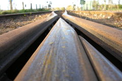 Railroad. In detail Royalty Free Stock Photography