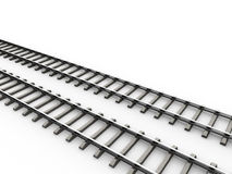 Railroad. Isolated fragment of the railroad vector illustration