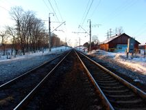 Railroad. A railroad perspective Royalty Free Stock Photography