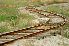 Rusty Railroad Tracks Royalty Free Stock Photo