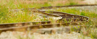 Old railway track Stock Images