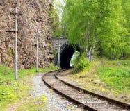 Railroad. Around the Baikal lake Stock Images