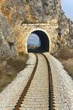 Railroad across a mountain Stock Photos