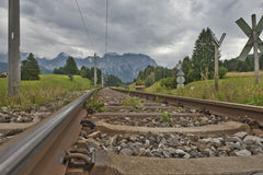 Railroad in the Alps Stock Photos