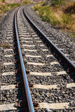 Railroad amid drought Royalty Free Stock Photos