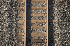 Railroad background. Close up of a railroad track. Background royalty free stock photography