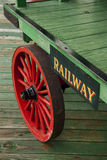 Railroad baggage cart. Old railroad baggage cart located in train station Royalty Free Stock Photography