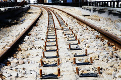 Railroad ballast bed Royalty Free Stock Images