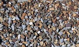 Railroad ballast texture made of magmatic rocks. Texture stock image