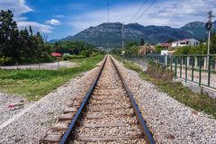 Railroad in Bar city Stock Photo