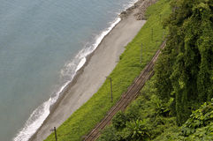 Railroad on the beach Stock Photography