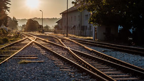 Railroad in beautifull sinris Royalty Free Stock Image