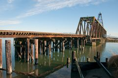 Railroad Birdge over Swinomish Channel Stock Photography