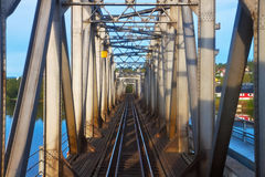 Railroad bridge Royalty Free Stock Image