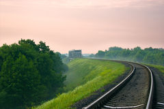 Railroad and bridge Royalty Free Stock Image