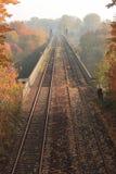 Railroad on bridge Royalty Free Stock Photos
