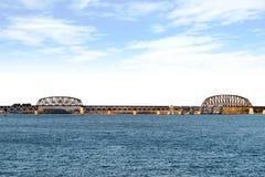 Railroad Bridge in Cincinnati Ohio Royalty Free Stock Image