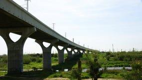 Railroad Bridge at the Delta del Llobregat Stock Photo
