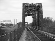 Railroad bridge. Highway 90 heading west to uvalde tx just out side of town. still in use today Stock Photography