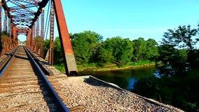 Railroad Bridge in Illinois stock video footage
