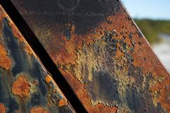 View of Rust On A Iron Beam stock image