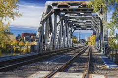 Railroad bridge, minneapolis Royalty Free Stock Images