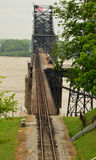 Railroad Bridge Mississippi Royalty Free Stock Photos