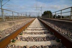 Railroad. Bridge near Båstad in Southern Sweden stock images