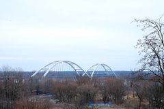 Railroad bridge, outdoor royalty free stock photography