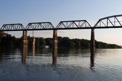 Railroad Bridge over Cumberland River Royalty Free Stock Image