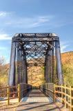 Railroad Bridge Over Iron Horse Trailhead Stock Image