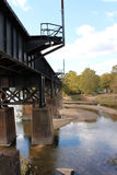 Railroad Bridge Over James River Stock Photography