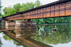 Railroad Bridge over Middle Island Creek Royalty Free Stock Images